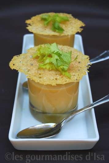 Cr me de courge butternut dentelles croustillantes au parmesan - Comment cuisiner courge butternut ...